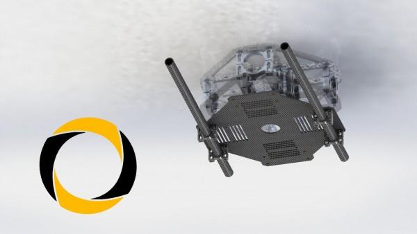 Gimbalhalter und Akkuplatte Tarot für Hexacopter
